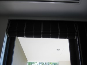 Soft Roman Blind operated with Stainless Steel Chain