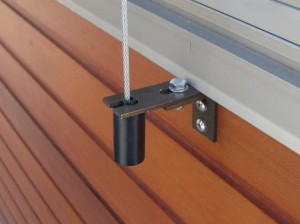 Cedar Retractable Venetian Blind Face Fix Application for Wire Guides