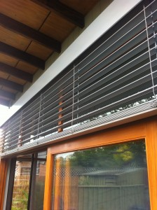 Aluminium Retractable Blinds with Extruded Powdercoated Aluminium Pelmet