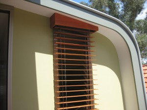Cedar Retractable Venetian Blind with Wire Guides